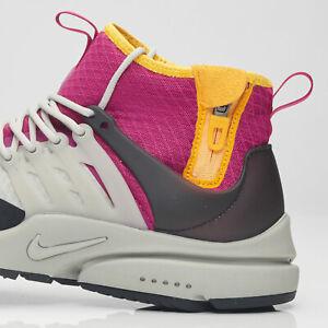 Nike-Air-Presto-Mid-SP-Men-039-s-Trainers-Granite-Rave-Pink-AA0868-UK11-EUR-46-US-12