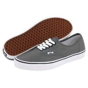 3a7aa15257a0f2 Vans Authentic Pewter   Black Men s Women s Classic Canvas Shoes
