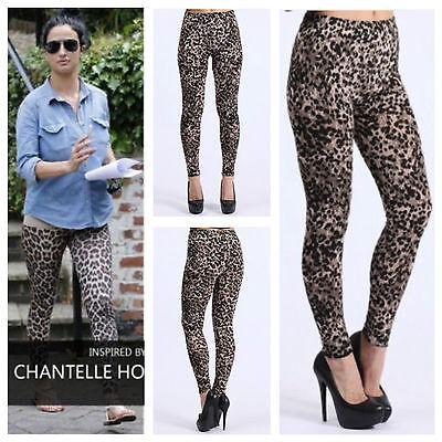Sportivo Donna Celebrity Look Stretch Animale Leopardo Stampa Leggings Plus Size8-22-mostra Il Titolo Originale Garantire Un Aspetto Simile Al Nuovo In Modo Indefinibile