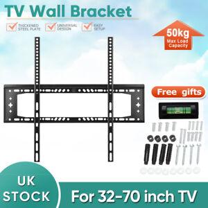 TV-Wall-Mount-Bracket-Shelf-Slim-Flat-Plasma-LCD-LED-Max-50kg-32-70-inches