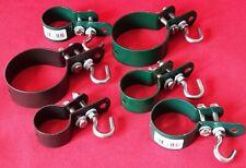 10 St Hakenschelle 34 mm Grün für Geflechtspannstab Schelle Befestigungsschelle