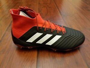 d858884ed2de4 Adidas Men's Predator 18.1 FG Soccer Cleats (Black/Red) DB2039 US ...
