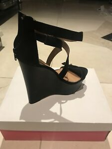 Just-Fab-Clarysa-Black-Heels-Size-5-New-With-Box-For-Sale-Worn-Once