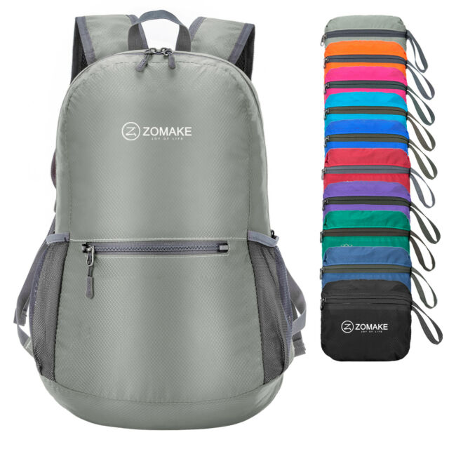 69735a40dfa ZOMAKE Ultra Lightweight Packable Backpack Water Resistant Hiking Daypack  Small Silver Gray