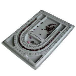 Flocked-Bead-Board-String-Craft-Tool-Beading-Jewellery-Design-Organiser-Tray-LQ