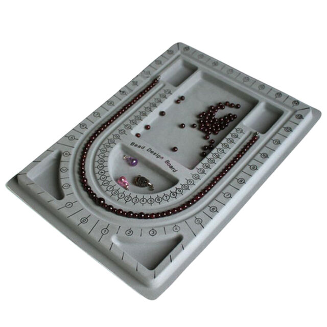 Flocked Bead Board String Craft Tool Beading Jewellery Design Organiser Tray ATC