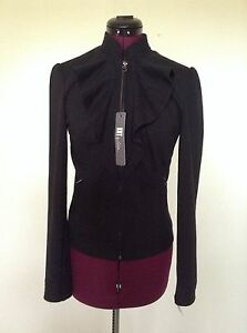 Front Casual Zip s Fuld Nwt Fra Jacket Kloth Ruffle Kut wWqCvSTg