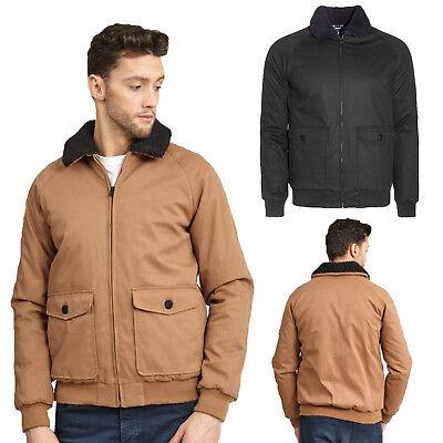 Aufrichtig Brave Soul Mens Hannington Designer Jacket Ma1 Winter Sherpa Collar Bomber Coat