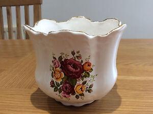 ceramic floral indoor planter