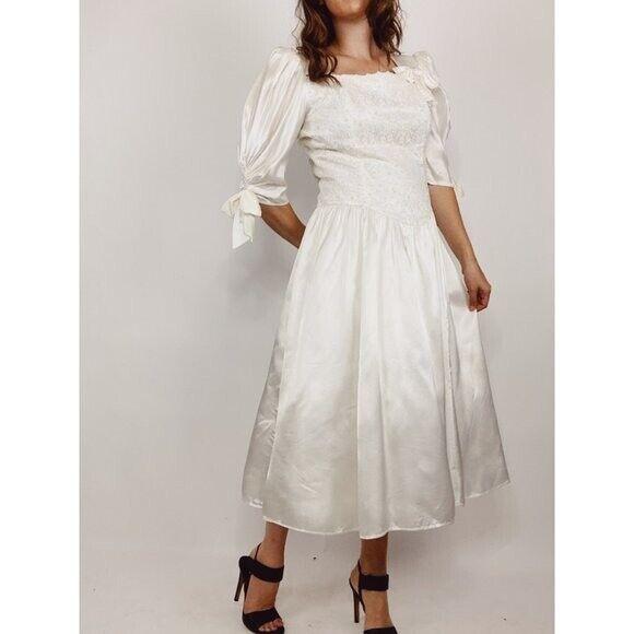 GUNNE SAX Jessica McClintock Size M Vintage White… - image 2