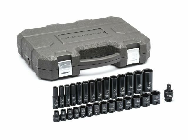 "Gearwrench 84918N 15 Piece 3//8/"" Drive 6 Point Metric Universal Socket Set"