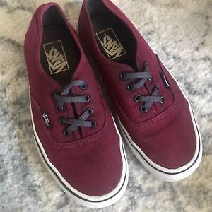 Details about Vans Authentic Canvas Shoes Mens Size 6 Womens Size 7.5 Port Royale Red