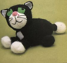 Ct31 Knitting Pattern - Jess The Postman Pat Cat - DK Knitted Children's Toy