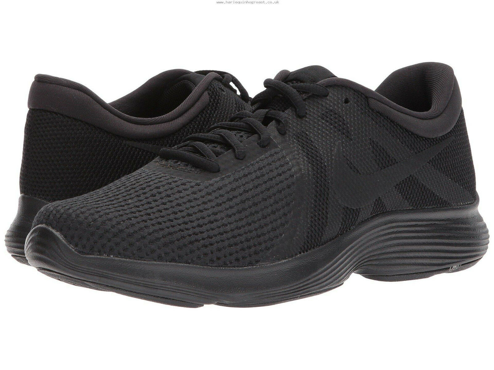 Nike Hombre Revolution 4 Zapatos Trainers, Nike Revolution Running Zapatos 4   Negro Talla 614 319bd5