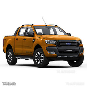 Details About Black Front Head Lamp Lights Cover Rhino Ford Ranger Px2 Mk2 2017 2016