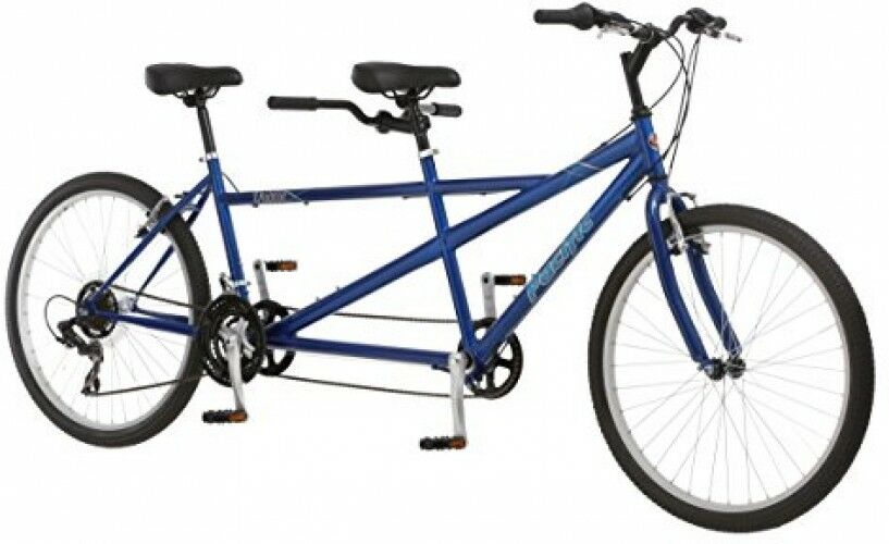 Dualie Tandem Bicycle Bike 26  Alloy Wheels 21 Speed Steel Mountain Frame bluee