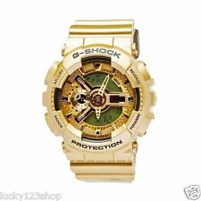 GA-110GD-9A Gold Casio Unise Watches G-Shock 200M Analog Digital X-Large Resin