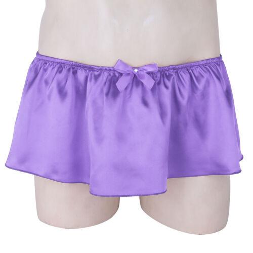 Mens Thong Skirted Bikini G-String Sissy Pouch Panties T Back Underwear Lingerie