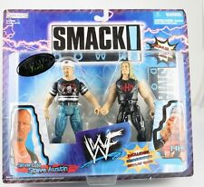 WWE JAKKS PACIFIC SMACKDOWN STONE COLD STEVE AUTSIN, TRIPLE H-3D COLLECTORS BASE