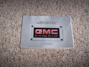 2000 gmc jimmy owner owner s manual user guide sls sle slt jde 4wd rh ebay com 2000 GMC Jimmy SLE 2005 GMC Jimmy