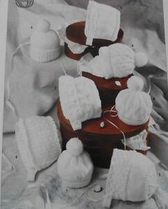 KNITTING-PATTERN-1-crochet-8-BABY-BONNET-HAT-HELMET-CAPS-6-SIZES-0-2-YEARS