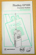 + Motorola Radius GP300 Hand Held Portable Radio Operating Manual Free Shipping