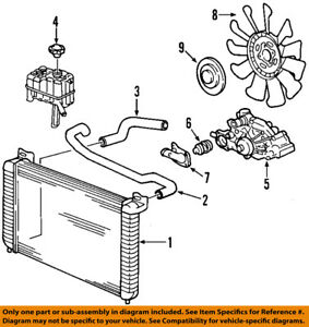 gm oem engine cooling radiator fan clutch 20913877 ebay rh ebay com Small Block Chevy Cooling Diagram Small Block Chevy Cooling Diagram