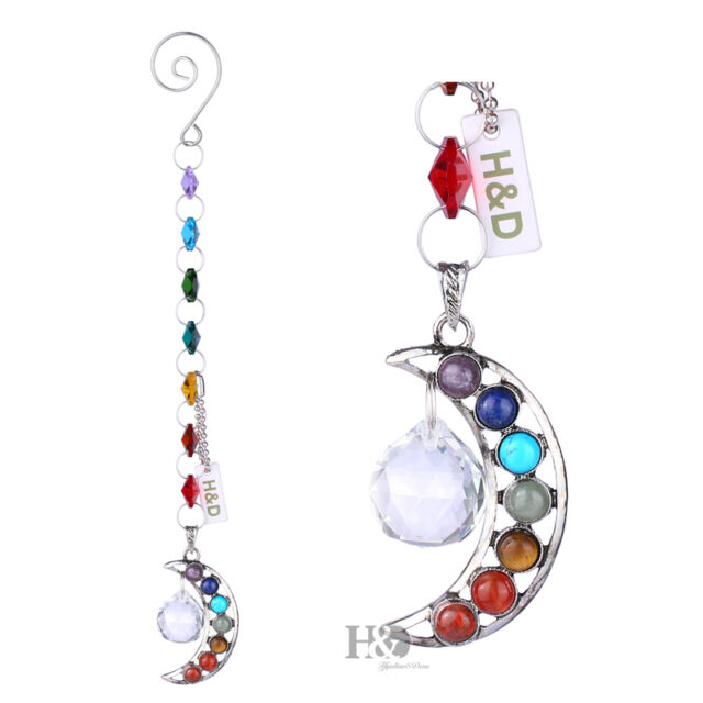 Half-moon Rainbow Handmade Suncatcher Crystal Prisms Ball Pendulum Pendants 20mm