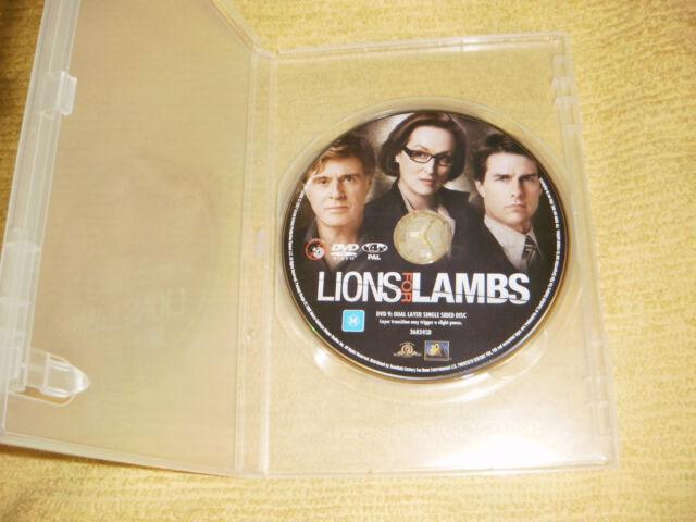 LIONS FOR LAMBS war 2007 DVD as NEW Tom Cruise meryl streep Robert Redford R4