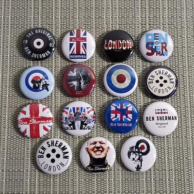 15 Ben Sherman / Buttons / Pins / Badges / 1 Inch / 25 Mm / Mods / Punk / Top