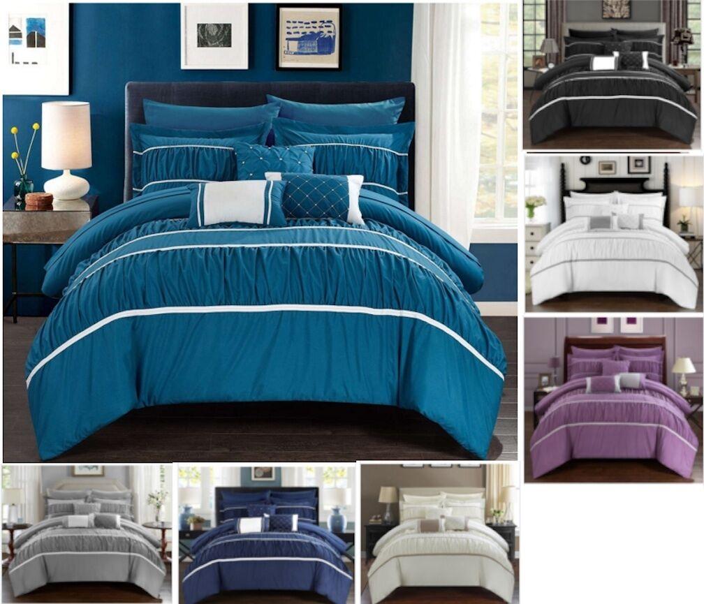 10 Pezzi Comforter Set   Letto in Borsa con Foglio Set - 7 Coloreeeei
