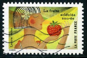 Copieux France Autoadhesif Oblitere N° 1455 Le Gout // La Fraise