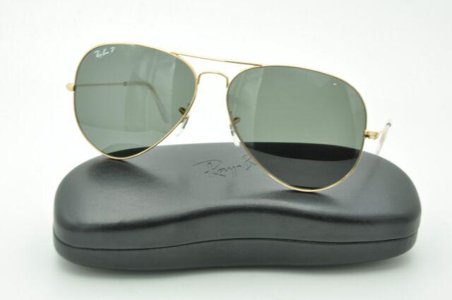 7d1b545dd9 Ray Ban RB 3025 Aviator Sunglasses 001 58 Gold   Green Polarized Lenses 58mm