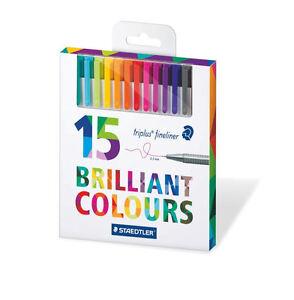 15x Staedtler Triplus Fineliner Colouring Pens Ideal For Johanna