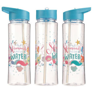 Neuf-Plastique-Enchanted-Mer-Sirene-bouteille-d-039-eau-500-ml