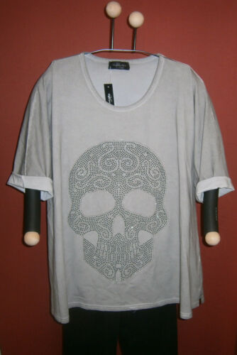42 shirt Oversize Glitzer Khakischlamm Vincenzo 56 nieten Totenkopf Allocca 6OqwnH0