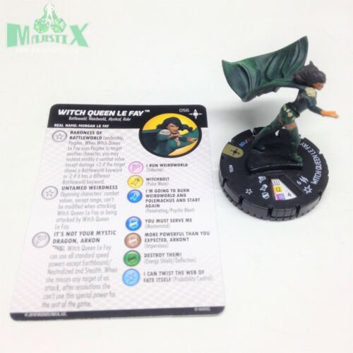 Heroclix Secret Wars: Battleworld set Witch Queen Le Fay #056 Super Rare w/card!