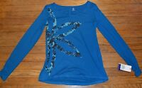 Gaiam Harmony Long Sleeve Tee Yoga T-shirt Athletic Top Msrp $38.00 Size Xs