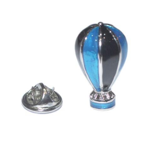 Blue /& Negro globo de aire caliente Pin De Solapa Insignia de vuelo en Ala Delta Globos presentar nuevas