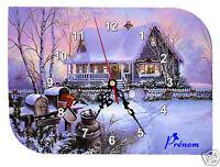 Horloge Pendule Murale Ref F03 A Personnaliser Photo Prenom Texte Au Choix