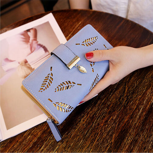Women Leather Clutch Wallet Long Card Holder Case Purse phone Handbag