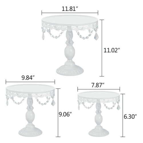 Set of1//3//6 Cake Stand Round Cupcake Tower Stands Metal Dessert Display Plates