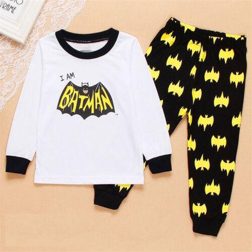 pants Boys cosplay pajamas set a variety of Batman patterns sleepwear Tops
