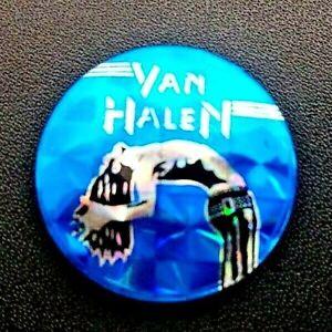 Van-Halen-Silver-Blue-Pin-Badge-1980-039-s