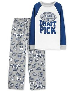 1f556bd62bad New Carter s 2-Piece Number One Draft Pick Football Pajama Set Boys ...