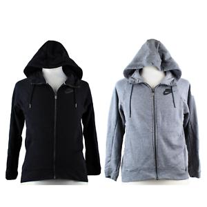 Nike Women/'s Sportswear Full Zip Hoodie Size Large Black AT5432-010 New
