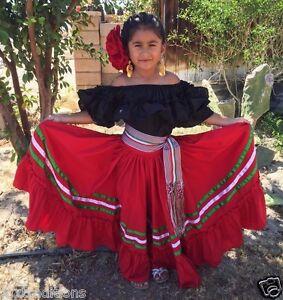 Details About Mexican Girl Children Dress 5 De Mayo Fiestavestido Fiesta Mexicana Para Niña