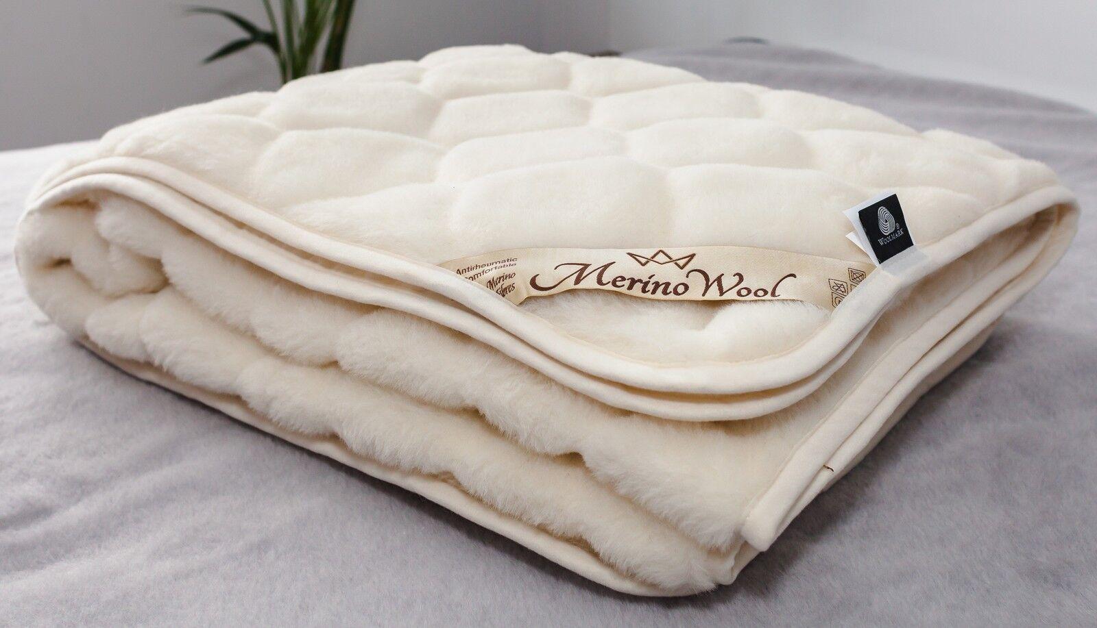 Merino Wool Matratzenauflage Kaschmir Caro Pad Schutz Bettwäsche