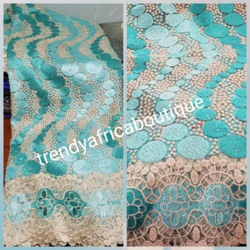 Latest French lace fabric. AFRICAN Embriodery lace 5ydspiece. Soft quality lace