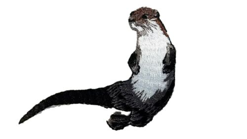 River Otter Embroidered Iron On Patch Applique by 1 Ferrets Treasures